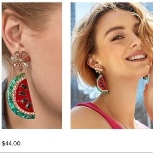 New CUTE Baublebar Watermelon Drop Post Earrings
